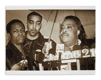 (CIVIL RIGHTS.) Thomas, Azim; photographer. Group of photographs of activist Al Sharpton.