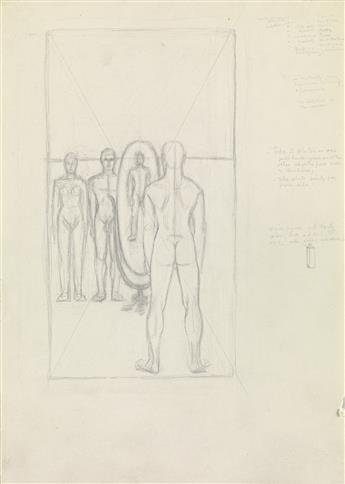 JARED FRENCH (1905-1988)  Study for Face to Face.
