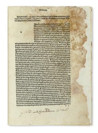 INCUNABULA  JOSEPHUS, FLAVIUS. De antiquitate Judaica. De bello Judaico.  1481