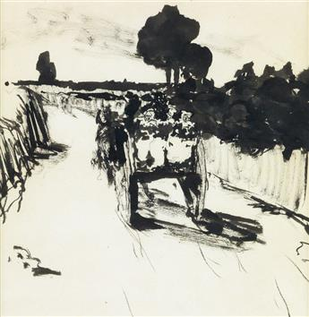 ROBERT HENRI Carriage on the Road.