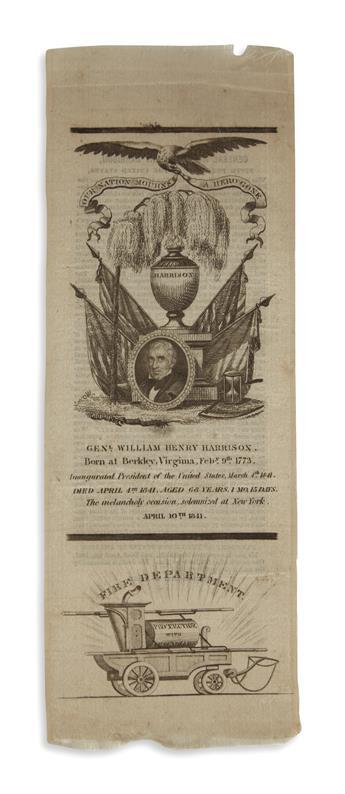 (PRESIDENTS--1841) William Henry Harrison memorial ribbon.