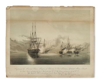 (MEXICO.) Bufford, lithographer; after Lieut. Peirce Crosby. Capture of the Mexican Steamers Marques of Havana & Genl. Miramon.
