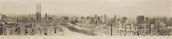 (SAN FRANCISCO EARTHQUAKE & FIRE) Large panorama by R.J. Waters entitled The Ruins of San Francisco, April 21, 1906.