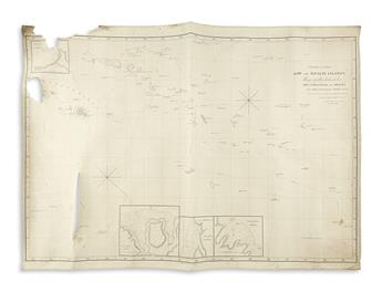 ARROWSMITH, AARON; and ARROWSMITH, SAMUEL. Chart of the Low and Society Islands.