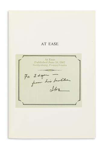 EISENHOWER, DWIGHT D. At Ease. Signed and Inscribed, For Edgar-- / from his brother / Ike,