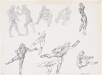 REGINALD MARSH Nude Studies.
