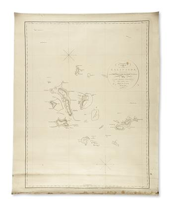 ARROWSMITH, AARON. Chart of the Galapagos, Surveyed in the Merchant-Ship Rattler,