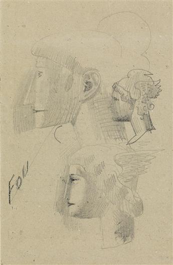 ELIE NADELMAN Study of Heads.