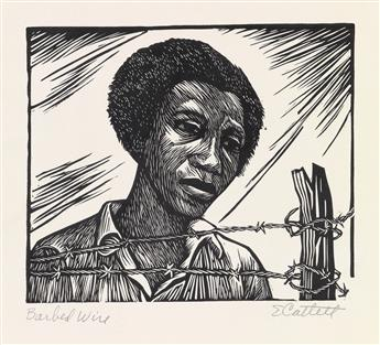 ELIZABETH CATLETT (1915 - 2012) Barbed Wire (Separation).