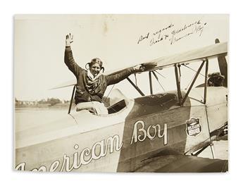 (AVIATION.) Signed photo of aviator Frank Goldsborough.