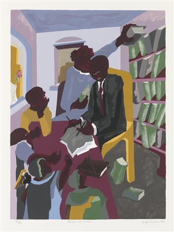 JACOB LAWRENCE (1917 - 2000) Lawyers and Clients.