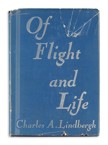 (AVIATION.) Lindbergh, Charles A. Of Flight and Life.