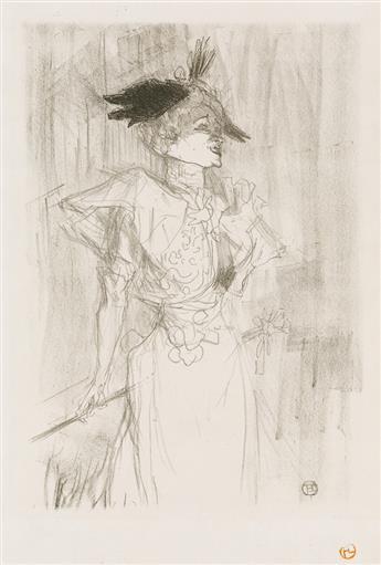 HENRI TOULOUSE-LAUTREC Mademoiselle Marcelle Lender, debout.