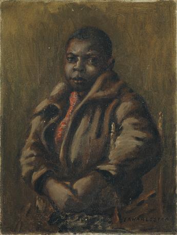 EDWIN A. HARLESTON (1882 - 1931) The Little Newsboy.