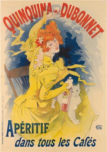 JULES CHÉRET (1836-1932). QUINQUINA DUBONNET. 1896. 48x33 inches, 122x85 cm. Chaix, Paris.