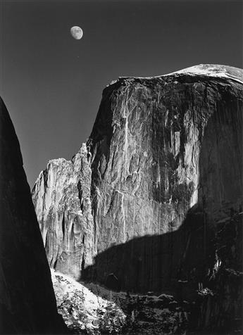 ANSEL ADAMS (1902-1984) Moon and Half Dome, Yosemite National Park.