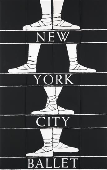 EDWARD GOREY (1925-2000). NEW YORK CITY BALLET. Circa 1975. 62x40 inches, 157x101 cm. Artcraft Litho & Printing Co., New York.