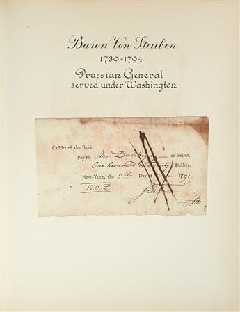 (ALBUM.) Group of 19 Checks Signed, by prominent Americans,