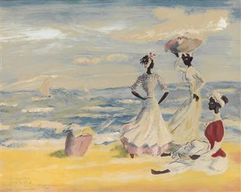 FRANK NEAL (1915 - 1955) Three Women by the Sea.
