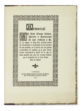 (TRAVEL.) Stevens, Henry; editor. Collection of 6 printings of early Spanish manuscripts by Las Casas, Cortes, and more.