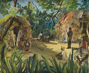 LOÏS MAILOU JONES (1905 - 1998) Village Folk.