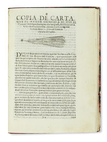 (PERU.) Rocha, Diego Andrés. Tratado unico, y singular del origen de los Indios occidentales del Piru, Mexico, Santa Fè, y Chile.