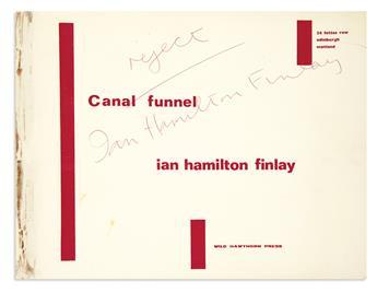 FINLAY, IAN HAMILTON / TYPEWRITER ART. Canal Funnel.