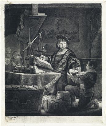 REMBRANDT VAN RIJN Jan Uytenbogaert, The Goldweigher.