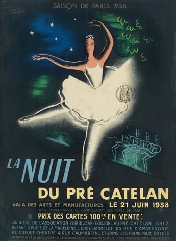 JEAN CARLU (1900-1997) & PAUL FROMENTIER (1914-1981). LA NUIT DU PRÉ CATELAN. 1938. 15x11 inches, 39x29 cm.