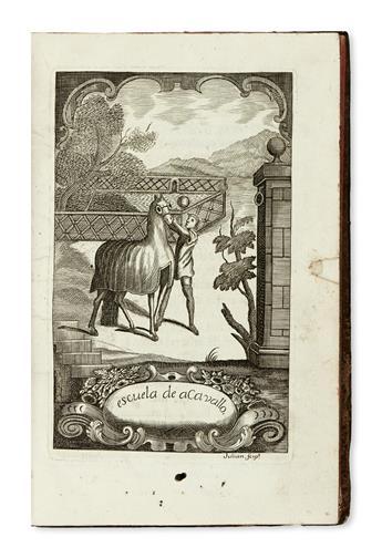 HORSEMANSHIP.  Rodríguez Jordán, Salvador. Escuela de Cavallo. 1751