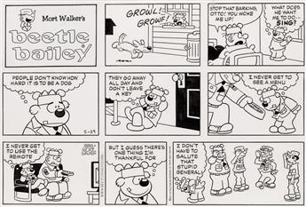 (CARTOONS / MILITARY.) MORT WALKER and GREG WALKER. Beetle Bailey.