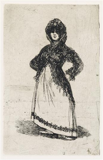FRANCISCO JOSÉ DE GOYA Group of 6 etchings with aquatint and drypoint executed in Bordeaux between 1824 and 1828.