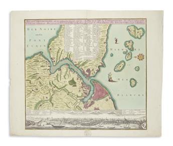 (CONSTANTINOPLE.) Lotter, Tobias Conrad. Plan von Constantinopel.