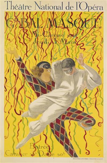 LEONETTO CAPPIELLO (1875-1942). THÉÂTRE NATIONAL DE L'OPÉRA / GD. BAL MASQUE. 1921. 47x31 inches, 119x31 cm. Devambez, Paris.