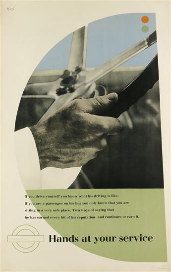 ZÉRÓ (HANS SCHLEGER, 1898-1976). HANDS AT YOUR SERVICE. 1946. 39x25 inches, 99x63 cm. The Baynard Press, London.