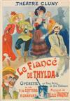 RENÉ PÉAN (1875-1940). LE FIANCÉ DE THYLDA. 1900. 42x23 inches, 108x58 cm. Chaix, Paris.
