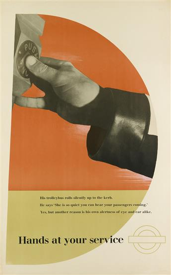 ZÉRÓ (HANS SCHLEGER, 1898-1976). HANDS AT YOUR SERVICE. 1946. 40x25 inches, 101x63 cm. The Baynard Press, London.