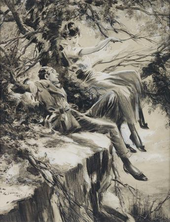 EVERETT SHINN. After a steep ascent they found themselves on a rocky table.