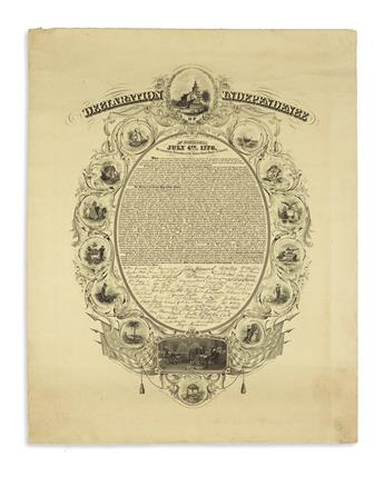 (DECLARATION OF INDEPENDENCE.) Buttre, John Chester; engraver. Declaration of Independence. In Congress, July 4th, 1776.