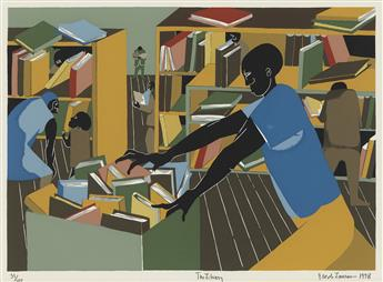JACOB LAWRENCE (1917 - 2000) The Library.