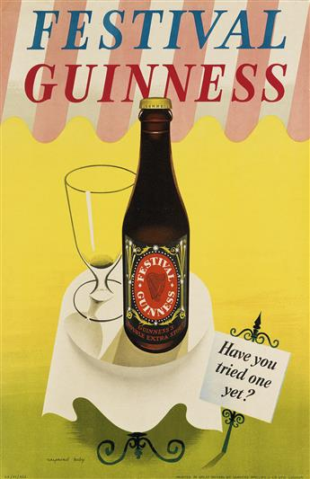 RAYMOND TOOBY (DATES UNKNOWN). FESTIVAL GUINNESS / HAVE YOU TRIED ONE YET? 1952. 29x19 inches, 75x49 cm. Sanders Phillips & Co., Ltd.,