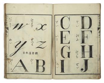 (JAPAN -- TYPOGRAPHY.) Japanese/English lettering manual.