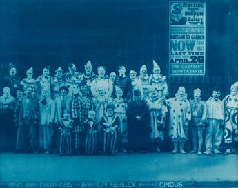 KELTY, EDWARD J. (1888-1967) Ringling Brothers and Barnum & Bailey (Combined) Circus (clowns behind Madison Square Garden).