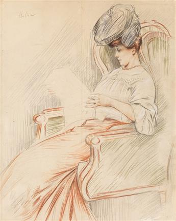 PAUL CÉSAR HELLEU Portrait of Madame Helleu.