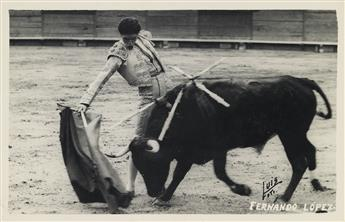 (MEXICO CITY--BULLFIGHTING) Vast archive comprising over 290 photographs of Mexican Bullfighting, with a primary focus on the Matador e