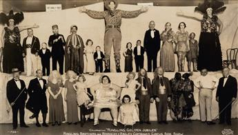 KELTY, EDWARD J. (1888-1967) Celebrating Ringling Golden Jubilee Ringling Brothers and Barnum & Bailey Combined Circus Side Show.