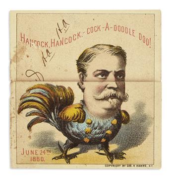 (PRESIDENTS--1880 CAMPAIGN.) Group of ephemera relating to Winfield Scott Hancock.