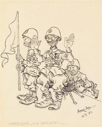 (CARTOONS / WWII / JAPAN.) ARTHUR SZYK. Surrender `a la Japanese.