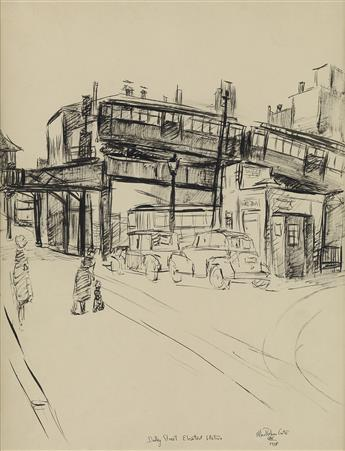 ALLAN ROHAN CRITE (1910 - 2007) Dudley Street Elevated Station.