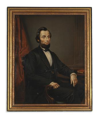 (PRINTS--PRESIDENTIAL.) Berg & Porsch; [after Gardner.] Untitled German portrait of Lincoln.